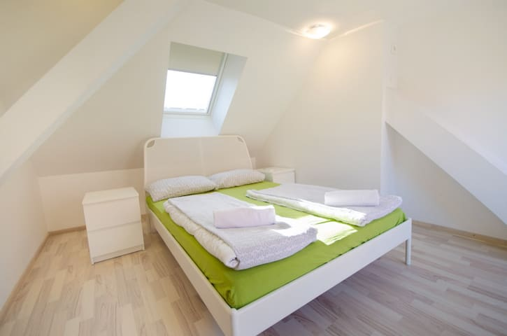 Attic double room with city view