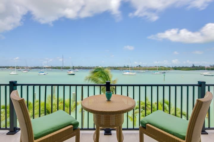 Relaxing studio with dock, rooftop patio, and stunning water views!