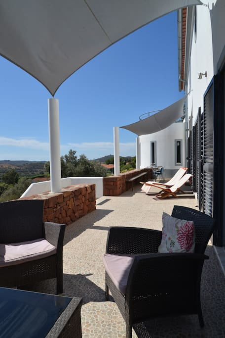 Top terrace accessible from the dining and living areas