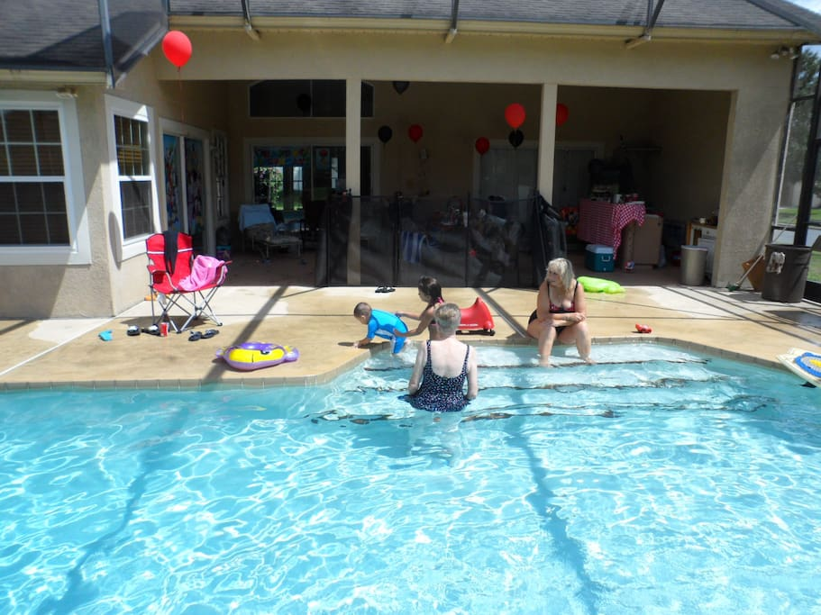 kids love to swim and there is a baby frense to put up when pool is not in use.