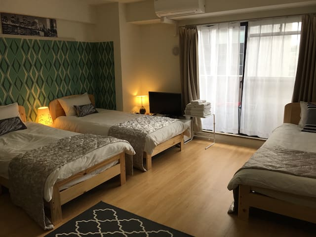 New!Art Room,5beds,7people,TokyoTower,Minato ward - Minato-ku - Lägenhet