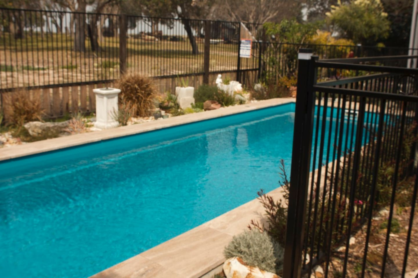 Sparkling in ground swimming pool