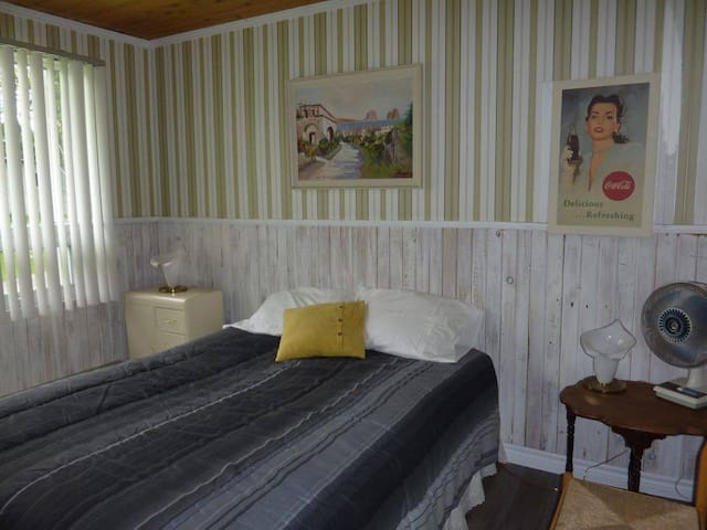 chambre principale tres grand lit ( queen)