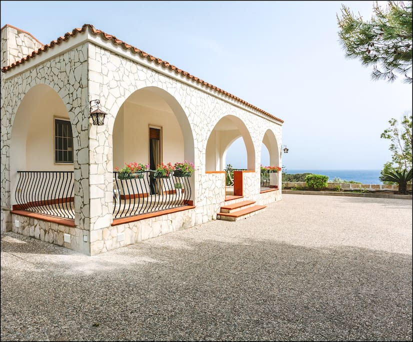 The Mediterranean ambience of the main entrance