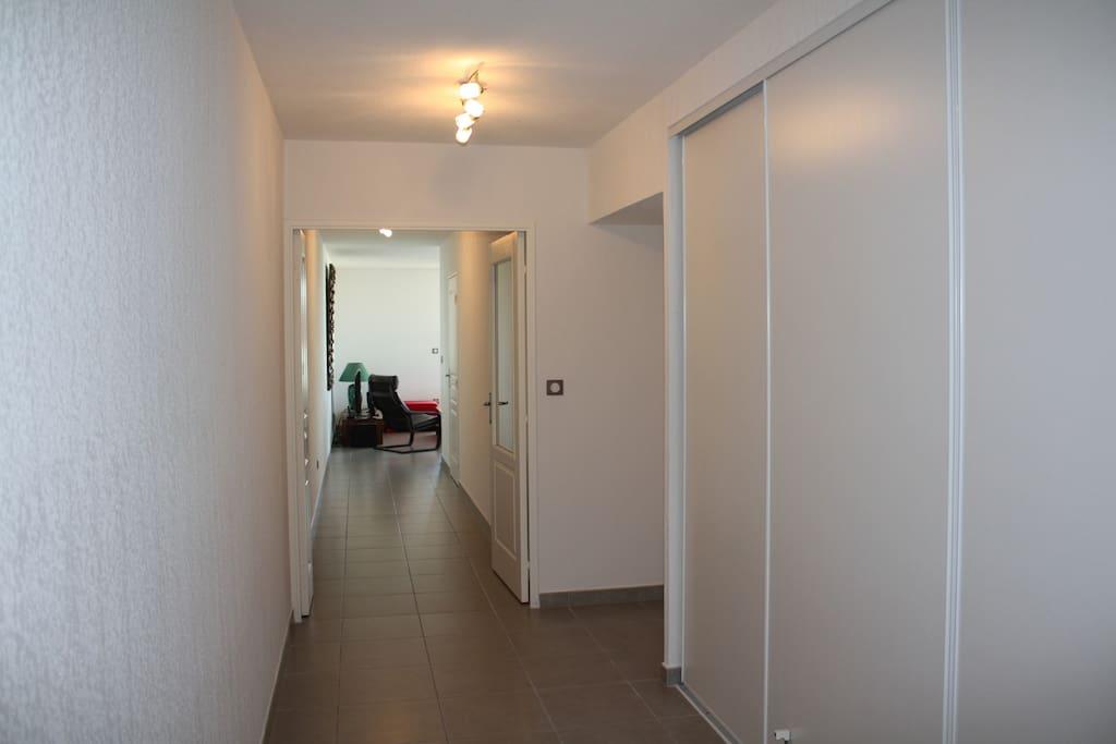 appartement très spacieux ,vu de l'entrée