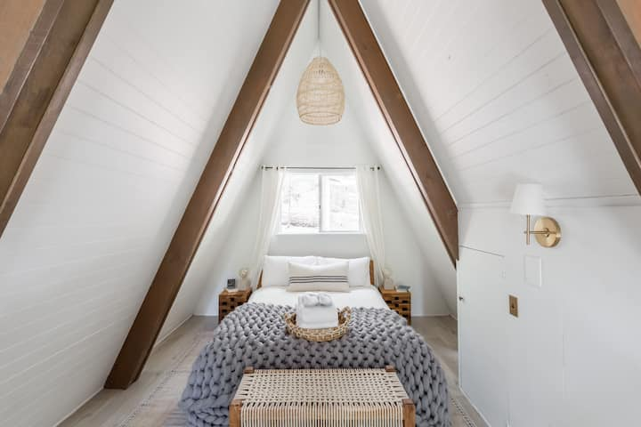 Upscale Modern A-Frame with Vintage Charm