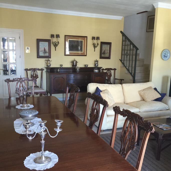 The elegant drawing room furnished in traditional style