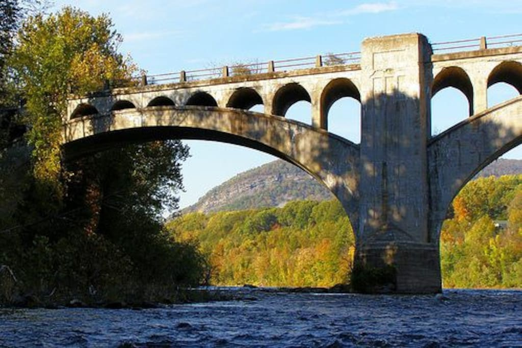 Columbia Bridge on the Delaware Water Gap near the home