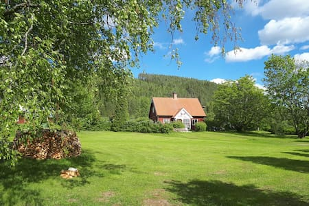 Swedish house beautiful located 100m from a lake..