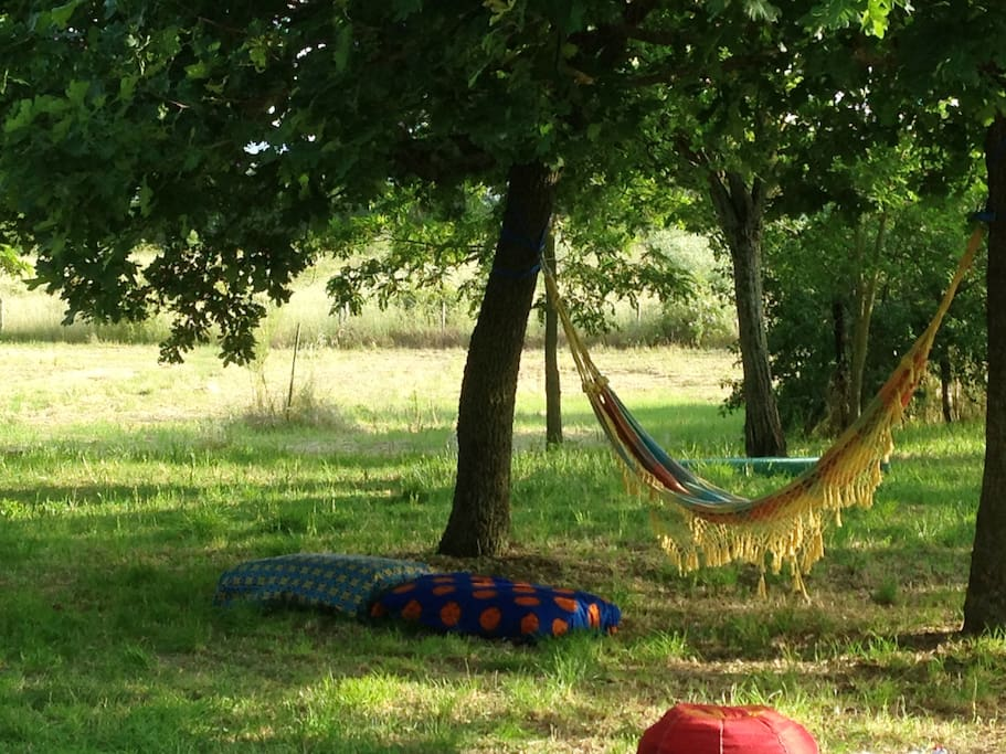 Hammock in the garden (there are three of them)