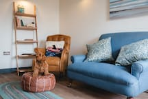 Living Area - we are dog friendly.