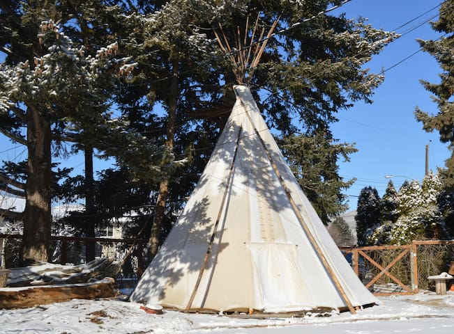 PRIVATE tipi with breakfast & farm to table dinner