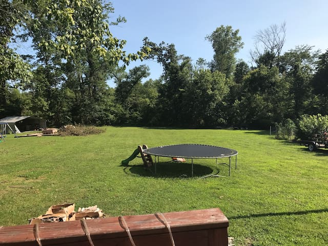 Yard for campers during the eclipse