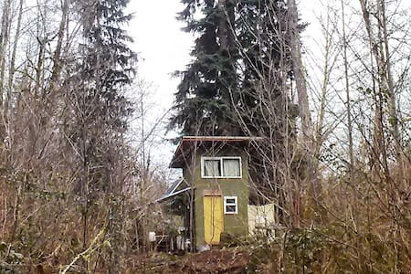 Green Cabin in the Woods - Kalama