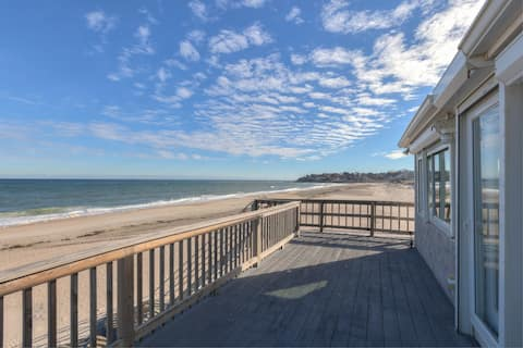 Stunning ocean views, stairs down to the beach