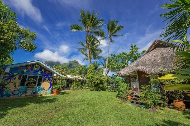 Bora bungalove en la laguna de Bora