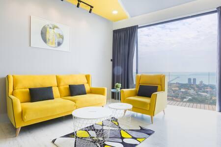 Fantastic Seaview ★THE YELLOW Arte S ★ @ 3房式豪华海景公寓