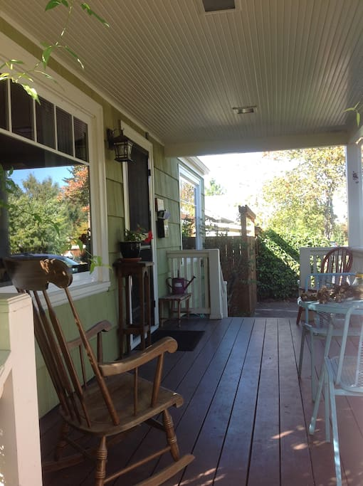 Lovely front porch to sit and read on!