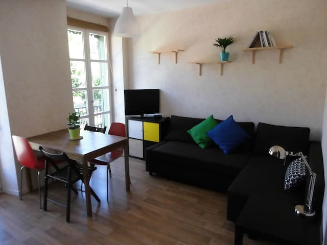 Cosy flat with terrace&elevator in the city-center - Ax-les-Thermes - Apartament
