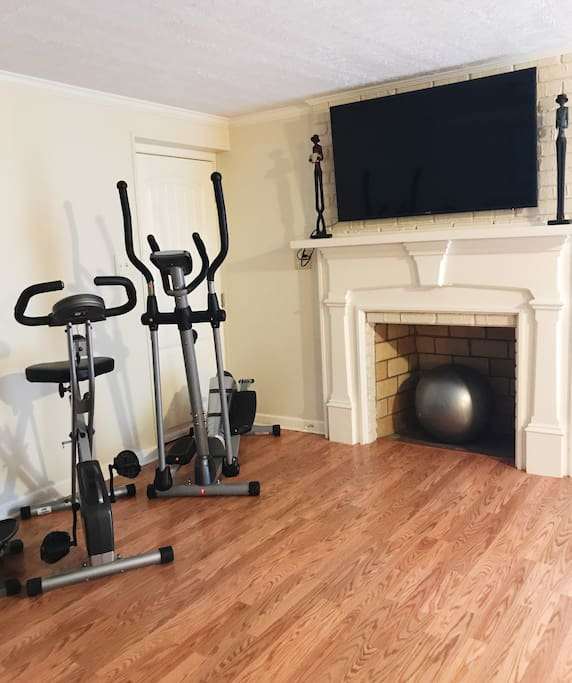 You can use the workout equipment and create your own creative home gym area.