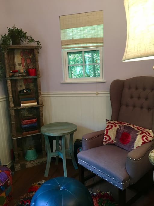 Put your feet up, grab a book, and relax in the cottage.