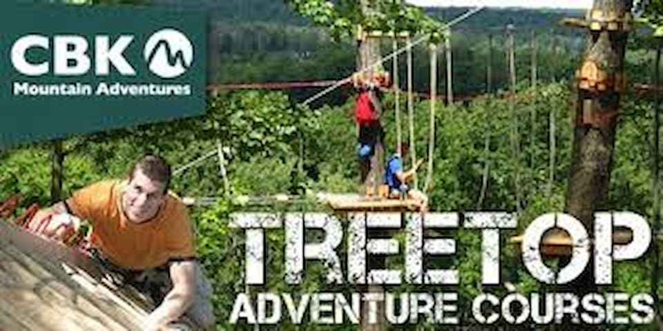 100 obstacle tree-top adventure course at CBK mountain adventures