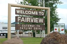 We are just five miles north of Fairview , and 15 minutes from Mt. Pleasant.