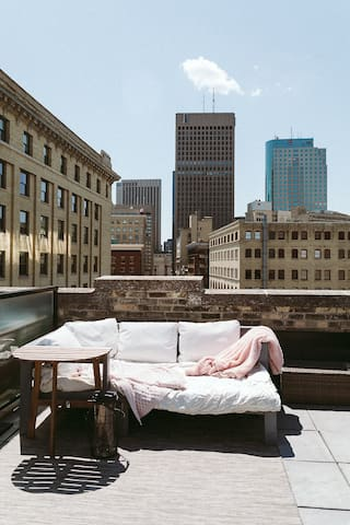 Private rooftop terrace (book with host) *Available May - September