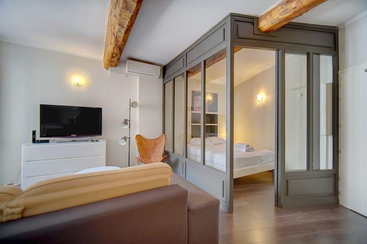IMMOGROOM - A/C - Full comfort - City center of Cannes - CONGRESS/BEACHES