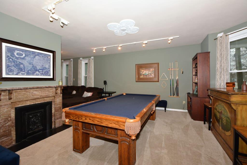 first floor pool table room
