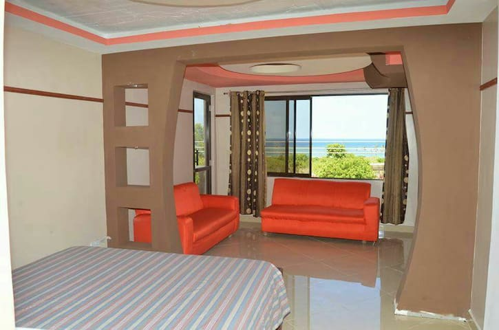 Diani beach rooms with balcony sea view