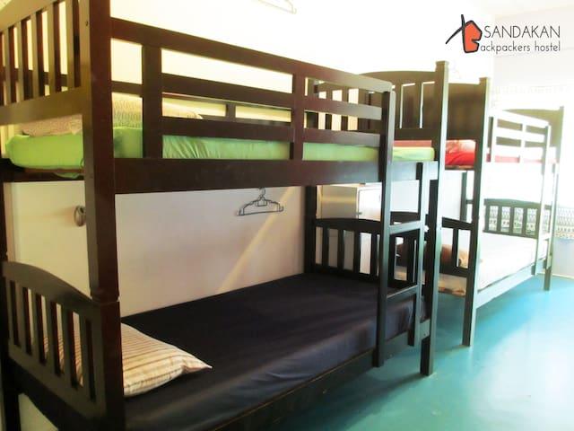 Female Dorm Bed 1&2 - Sandakan Backpackers Hostel