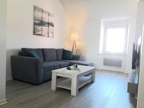 Appartement plein centre, large vue sur le Doubs