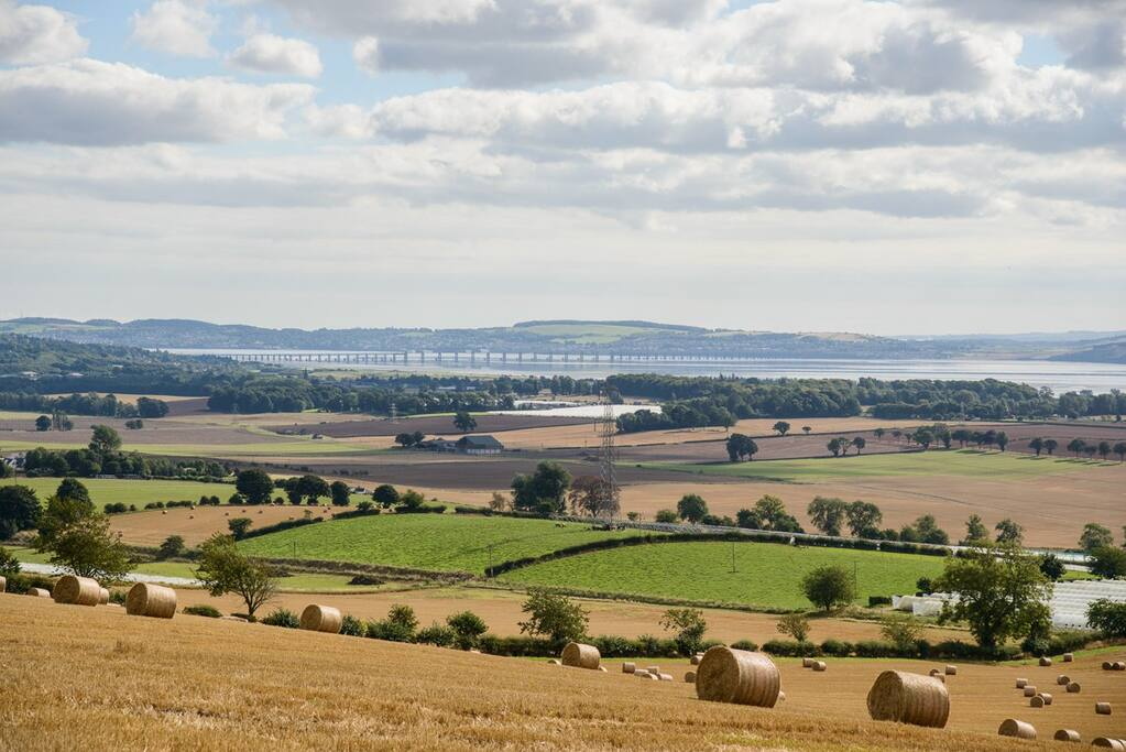 Fabulous views from the top of the farm over The Tay river.