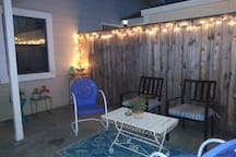 Comfortable patio seating and propane BBQ