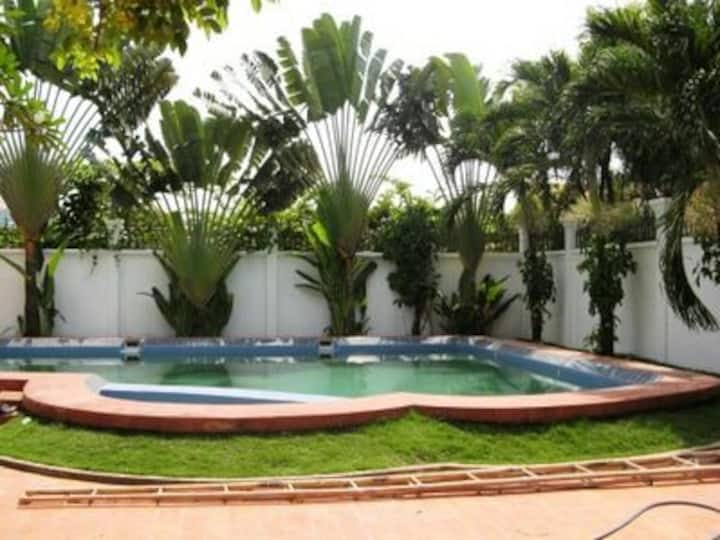 The villa is comfortable for a relaxing holiday