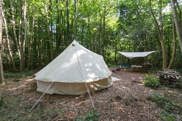 Self catering bell tent in lush Kentish woodland - Canterbury - Telt