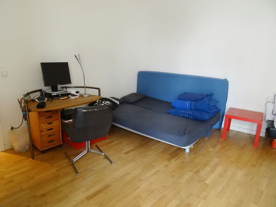 Studio Couch and working space