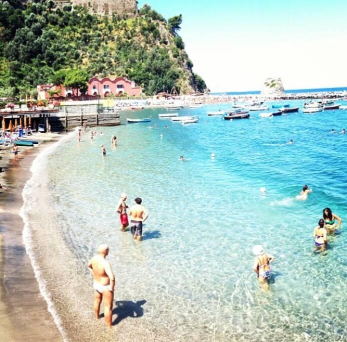 spiaggia dello stabilimento balneare antico bagno