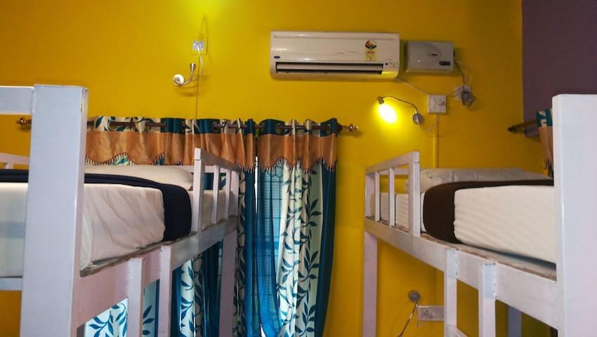 Bed in an Airconditioned dorm at Varkala