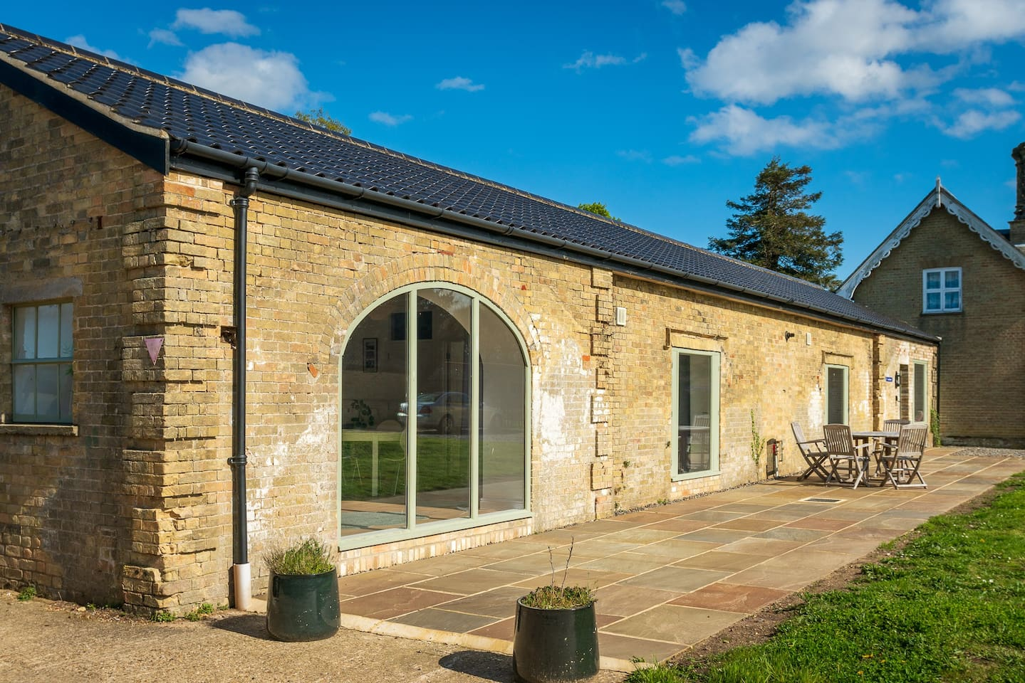 One of a pair of newly renovated and refurbished cottages on the historic Henham Park estate, near Southwold