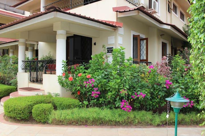Beautiful 2 bed villa in Candolim near beach
