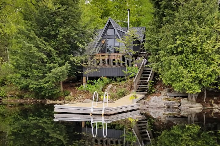 Trott Cottage Aframe on Lake Menominee