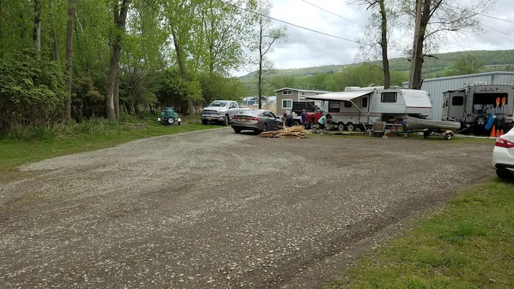 RV Sites with shared common area- boathouses
