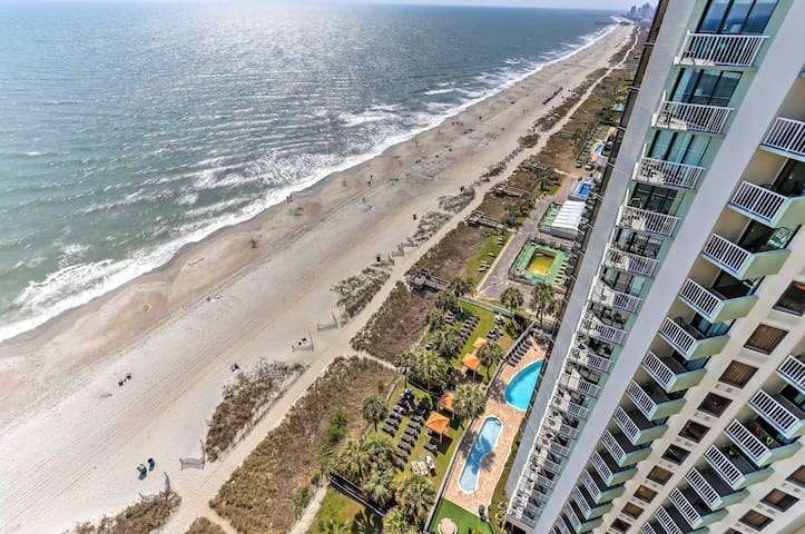 You'll have ideal amenities in a central location right on the beach!