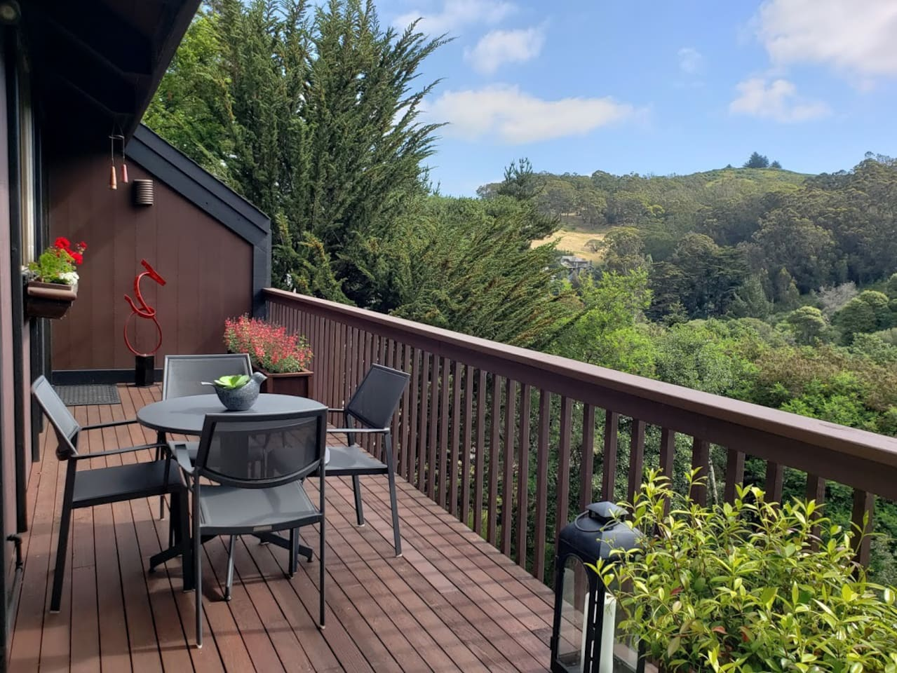 Enjoy views from the back deck.