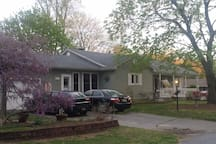 512 Wisseman Ave in the spring!  Everything is blooming!