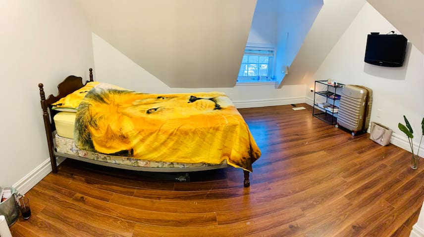 Spacious bedroom in newly renovated house