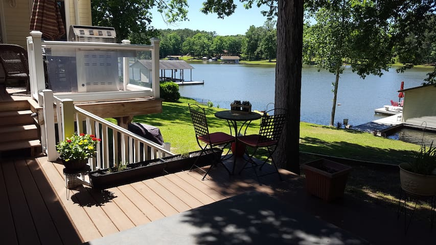 Gorgeous views and short walk to the water and dock. (Deck now has all new railings installed, not shown in this pic)
