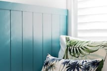 Windows and plantation shutters cast natural light into every single room.